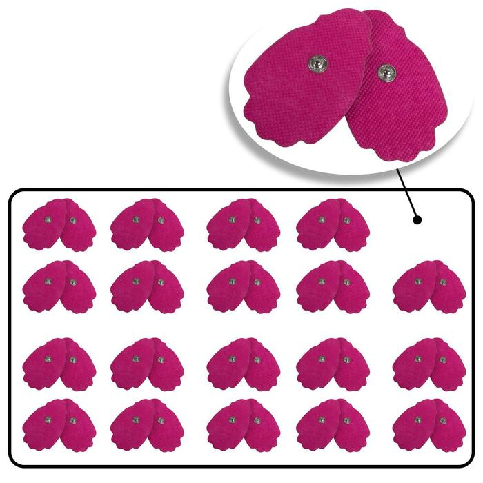 Large Pink Snap On Reusable Self-Adhesive Replacement Tens Unit Electrode Pads