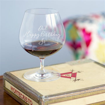 Personalised Brandy Glass