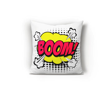 Pop Art Retro Cushion, Red Cushion, Bright Cushion, Multicoloured Cushion, Cool Bedroom Ideas, Kids bedroom ideas