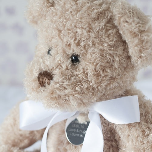 Personalised Christening Teddy Bear Soft Toy - Large