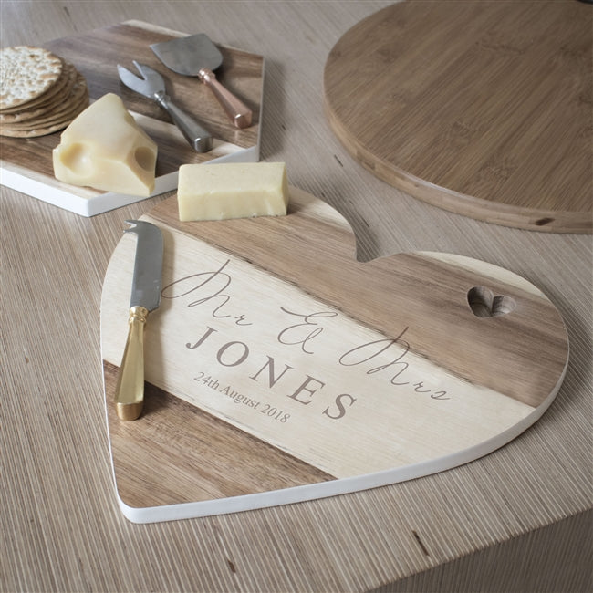 Personalised Cheeseboard, Personalised Wedding Gift, Mr and Mr Gift, Mr and Mrs Gift