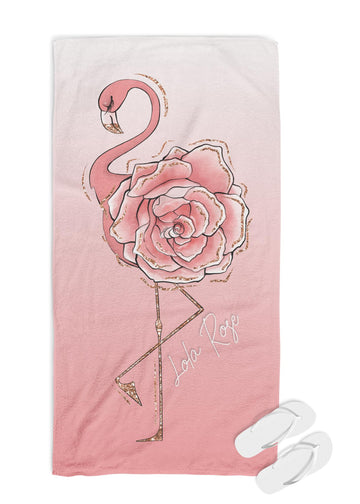 Personalised Towel - Flamingo