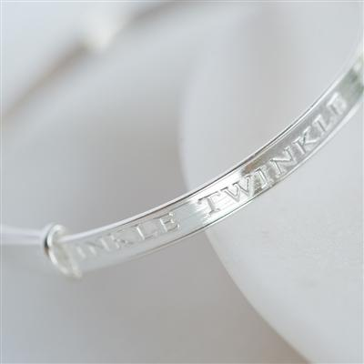 Twinkle Twinkle Sterling Silver Baby Bangle