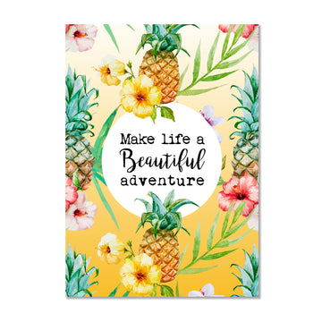 Pineapple Motivational Wall Art Print