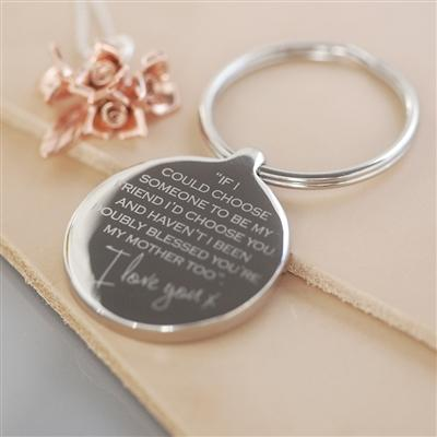 Mother, My Friend Keyring