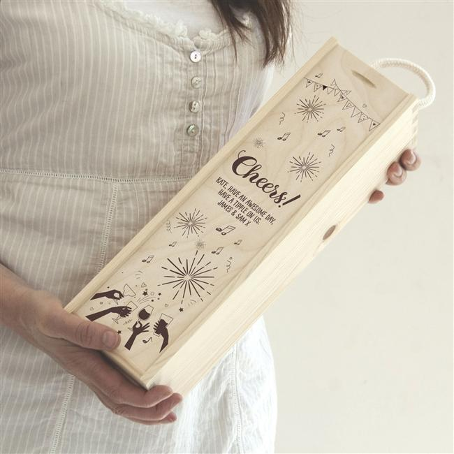 Cheers Personalised Wine Box