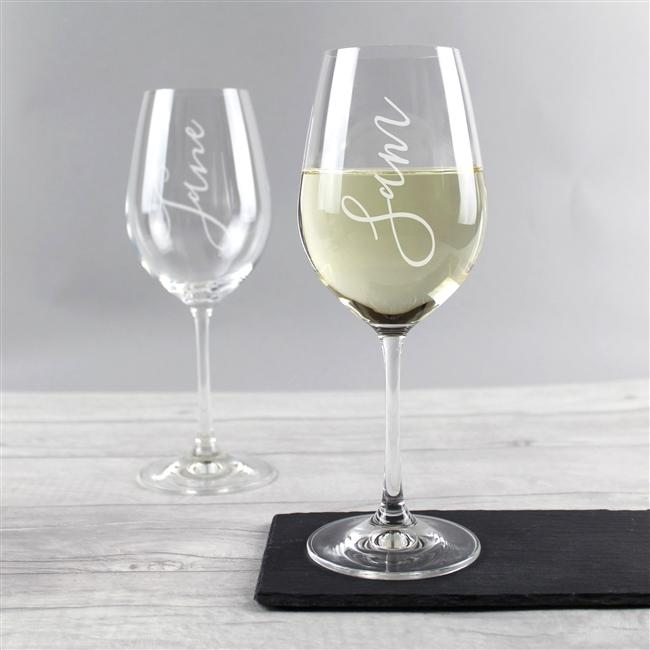 Name Wine Glass