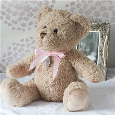 New Baby Girl Personalised Teddy Bear