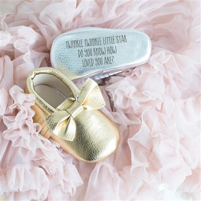 Personalised Gold Booties