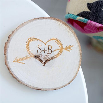 Initials Wood Coaster