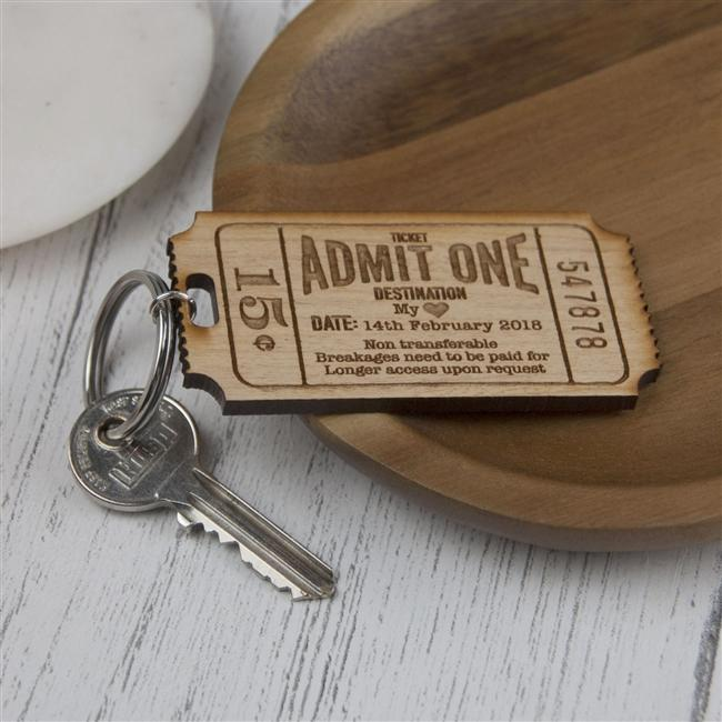 Ticket To My Heart Keyring