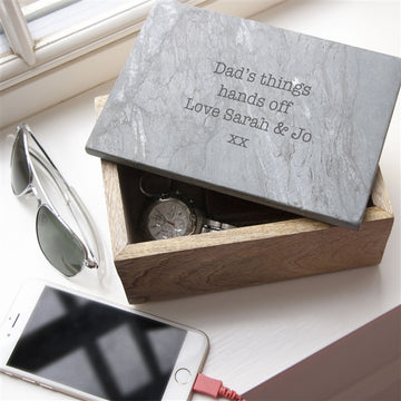 Personalised Gifts For Him - Trinket Box