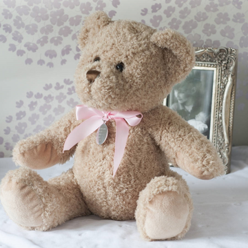 Personalised New Baby Girl Teddy Bear Soft Toy