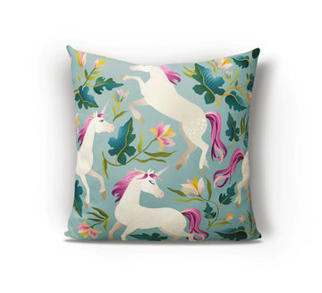Unicorn Cushion - Teal