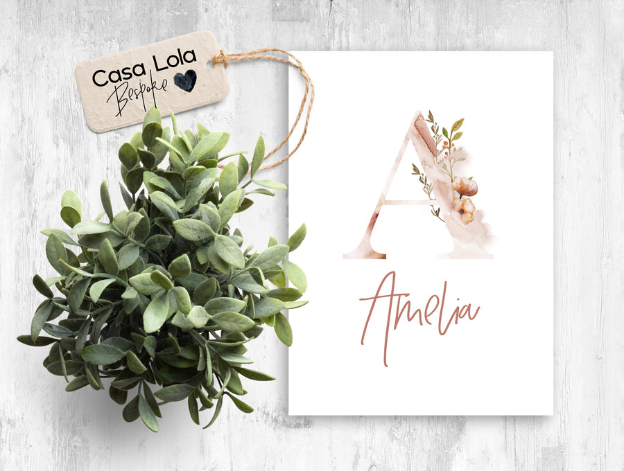 Personalised Alphabet Wall Art Prints