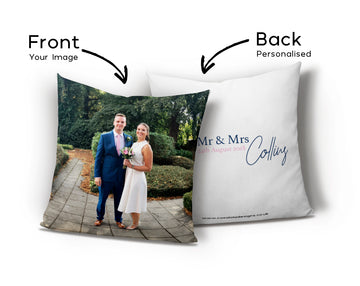 Unusual Wedding Gifts - Personalised Wedding Photo Cushion