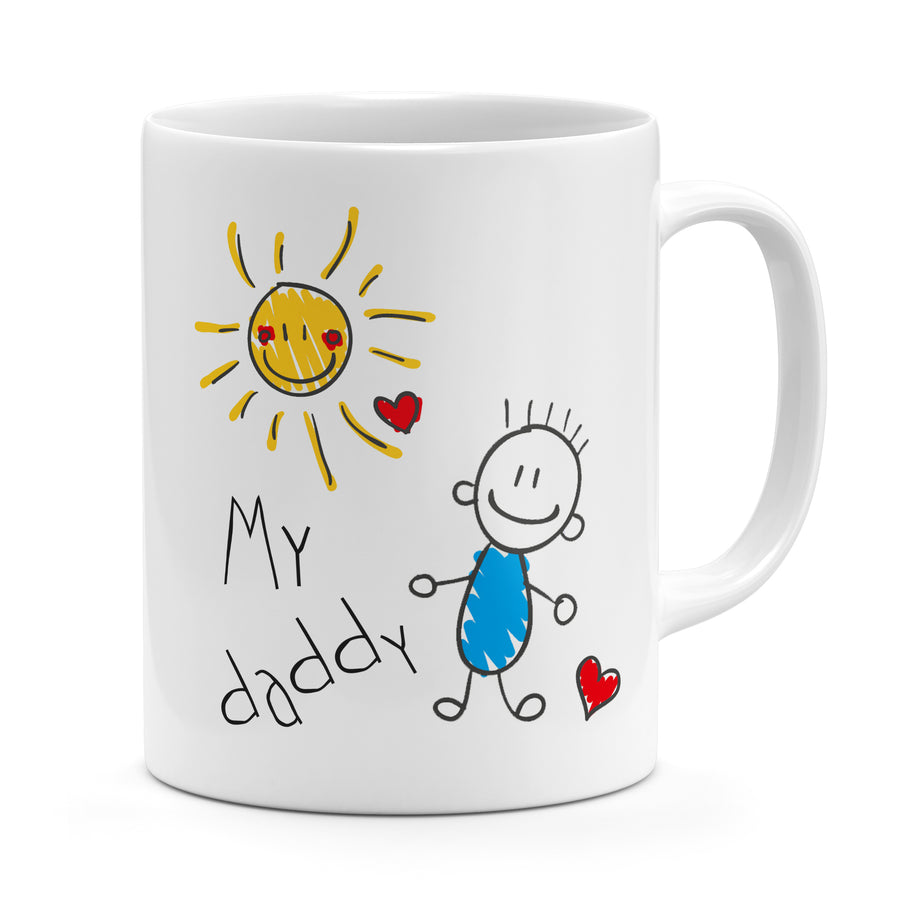 Upload Your Child's Drawing Mug - Personalised Gift For Dad