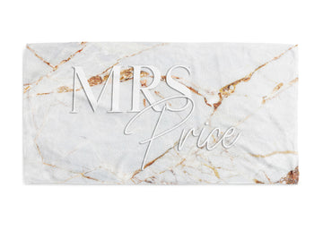 Personalised Beach Towel - Mrs Marble