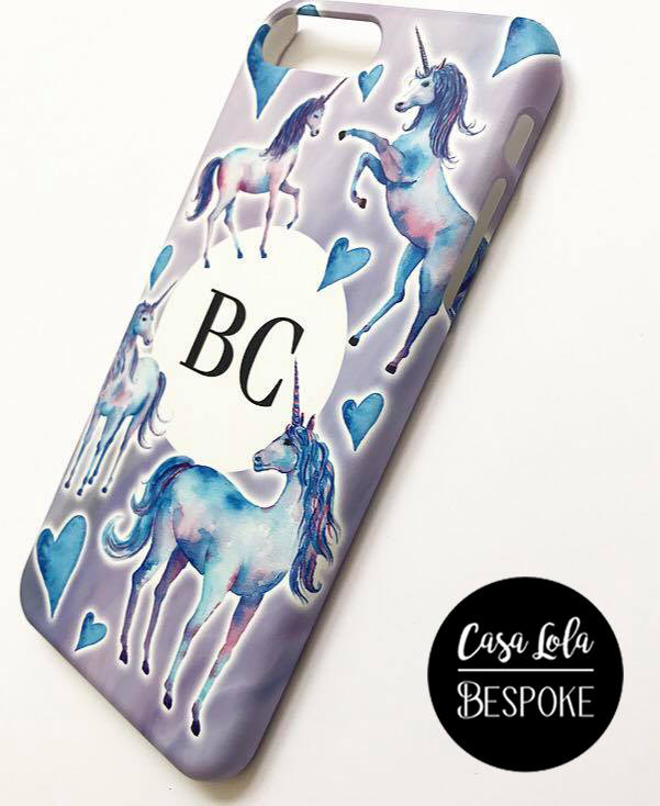 Personalised Unicorn Phone Case, Personalized Unicorn Phone Case