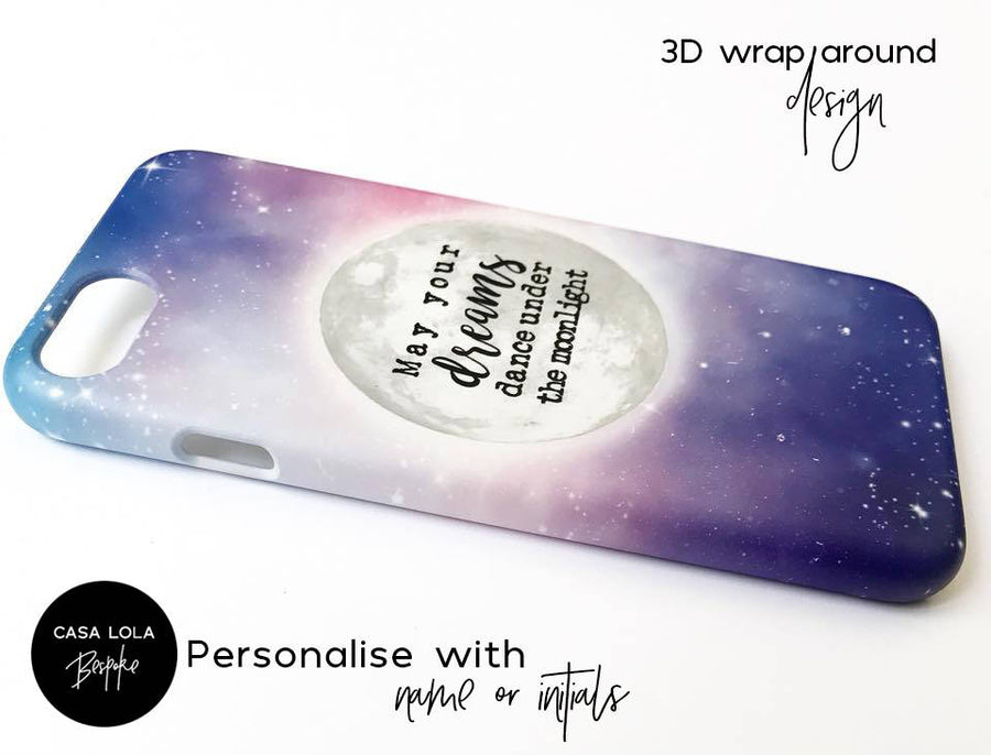 Personalised Phone Case, Dream Moon Phone Case, Personalized Phone Case, iPhone, Samsung, LG, Google