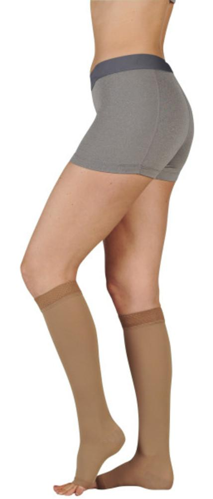 Juzo Soft 15-20 mmHg OPEN TOE Knee High w/ Silicone Top Band