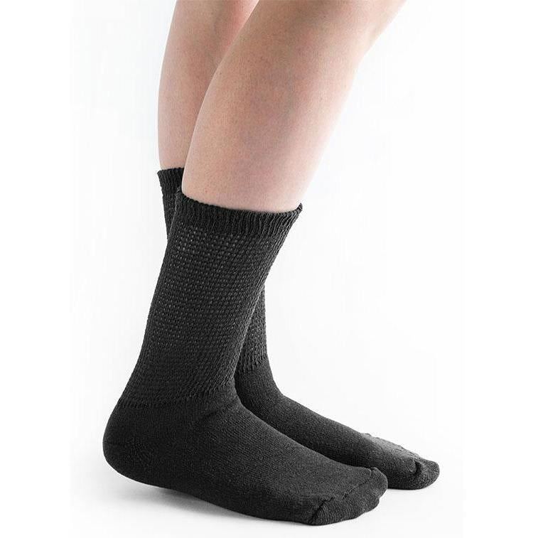 Doc Ortho Loose Fit Diabetic Crew Socks, 12 pairs