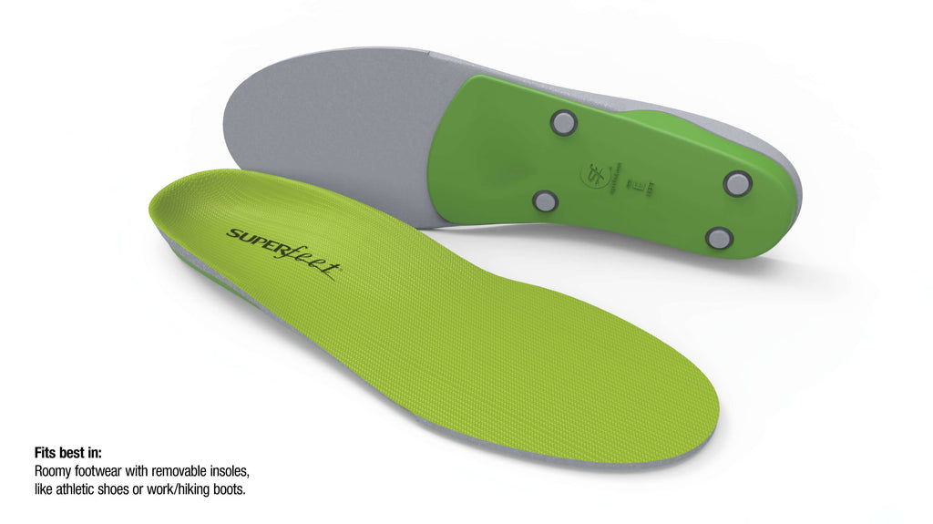 Superfeet GREEN High Arch Orthotic Insoles