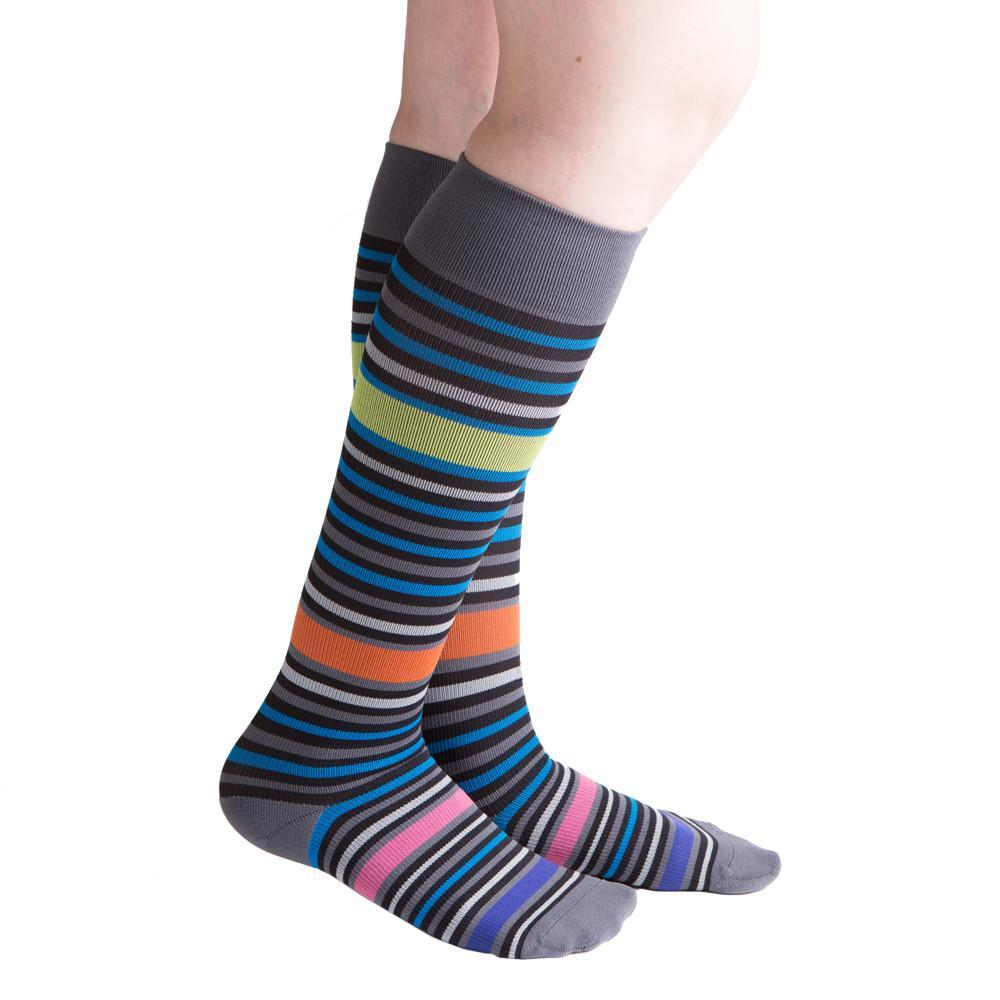 VenaCouture Women's Bold Bayadere Striped 15-20 mmHg Compression Sock