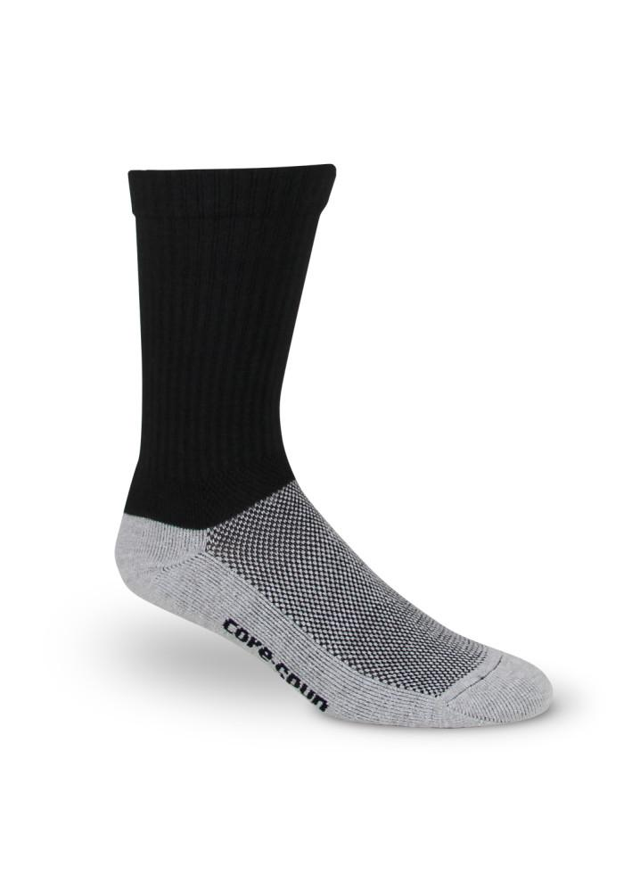 Core-Spun 10-15 mmHg Compression Crew Socks