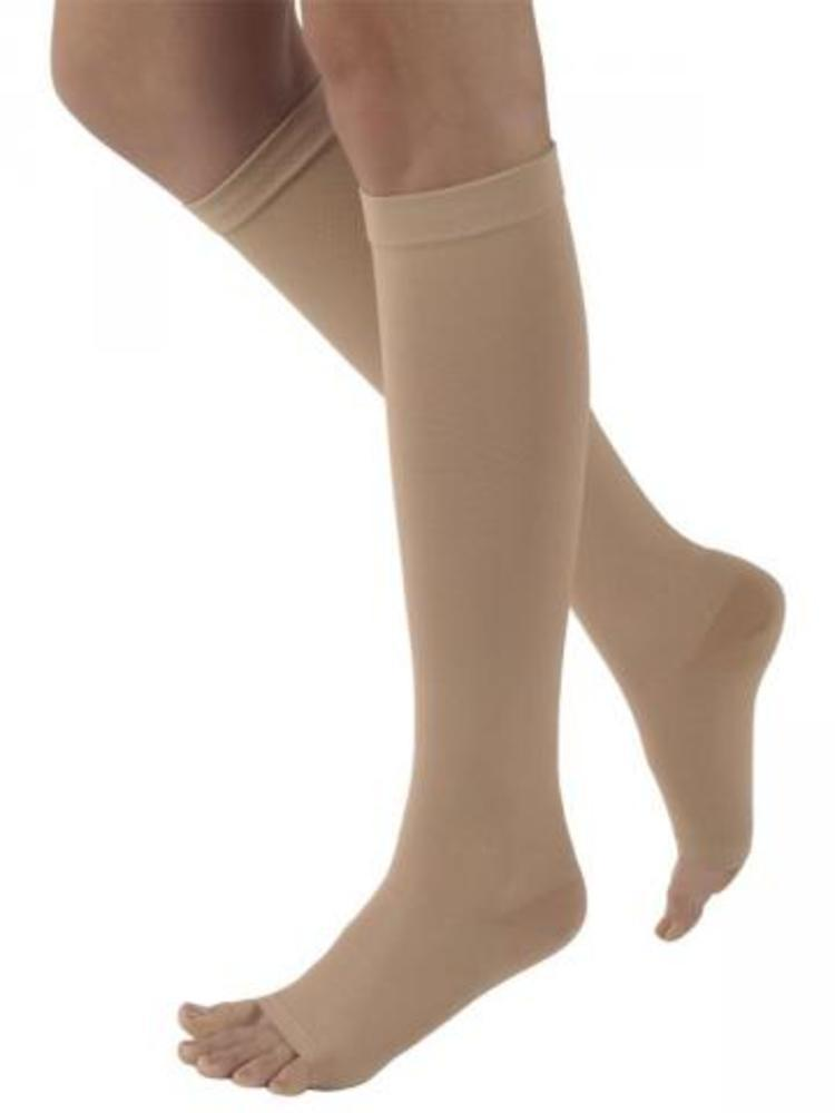 Sigvaris Natural Rubber 30-40 mmHg OPEN TOE Knee High