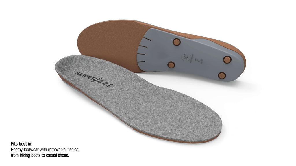 Superfeet merinoGREY™ Merino Wool Sports Insoles
