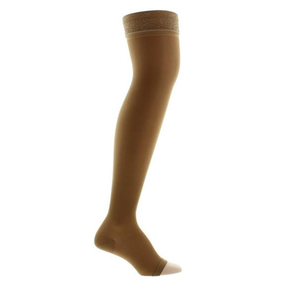 f110fa587f6f8 Venosan Legline 15-20 mmHg OPEN TOE Thigh High w/ Lace Top Band ...