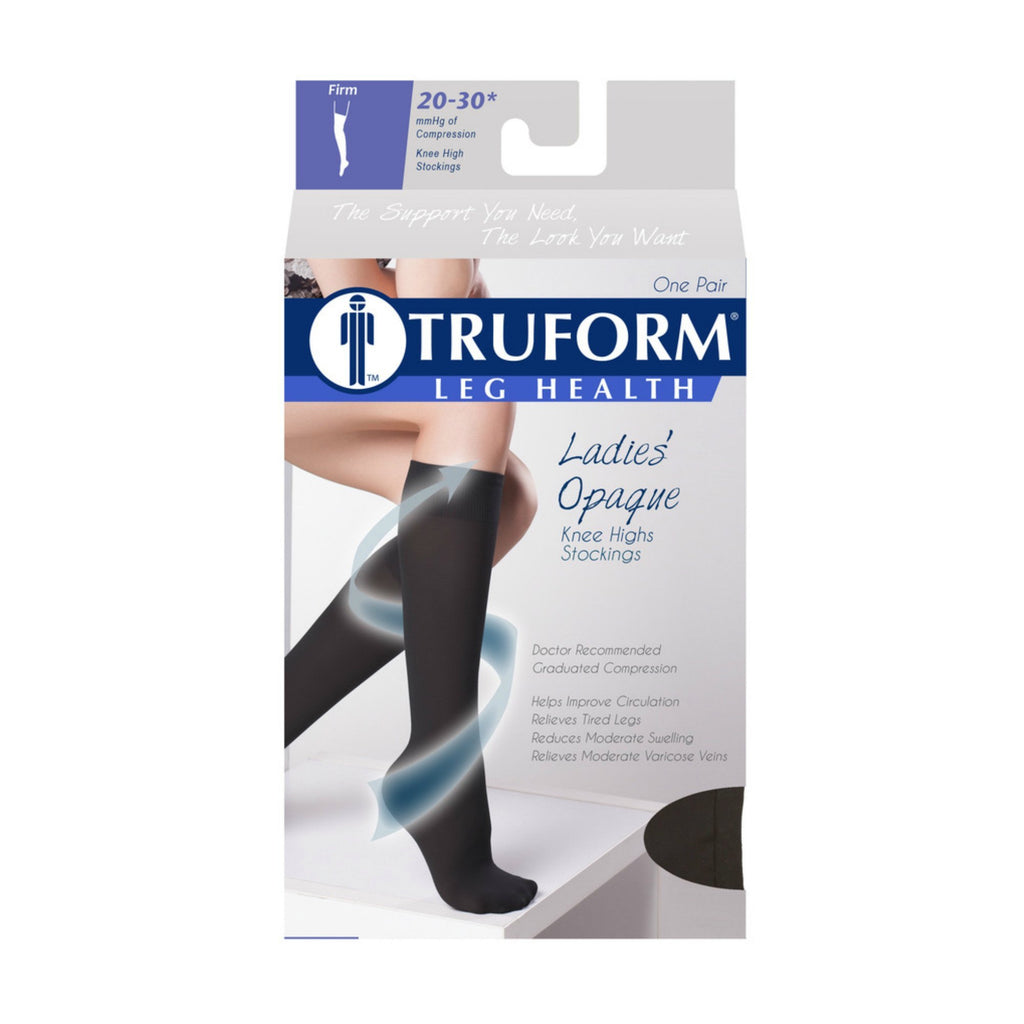 Truform Opaque Women's 20-30 mmHg Knee High