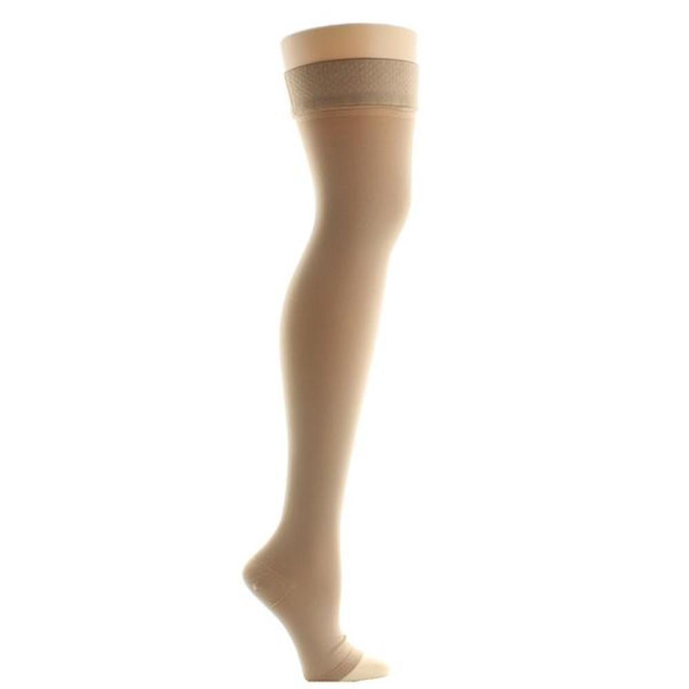 Venosan VenoMedicalUSA 20-30 mmHg OPEN TOE Full-Thigh High w/ Silicone Top Band