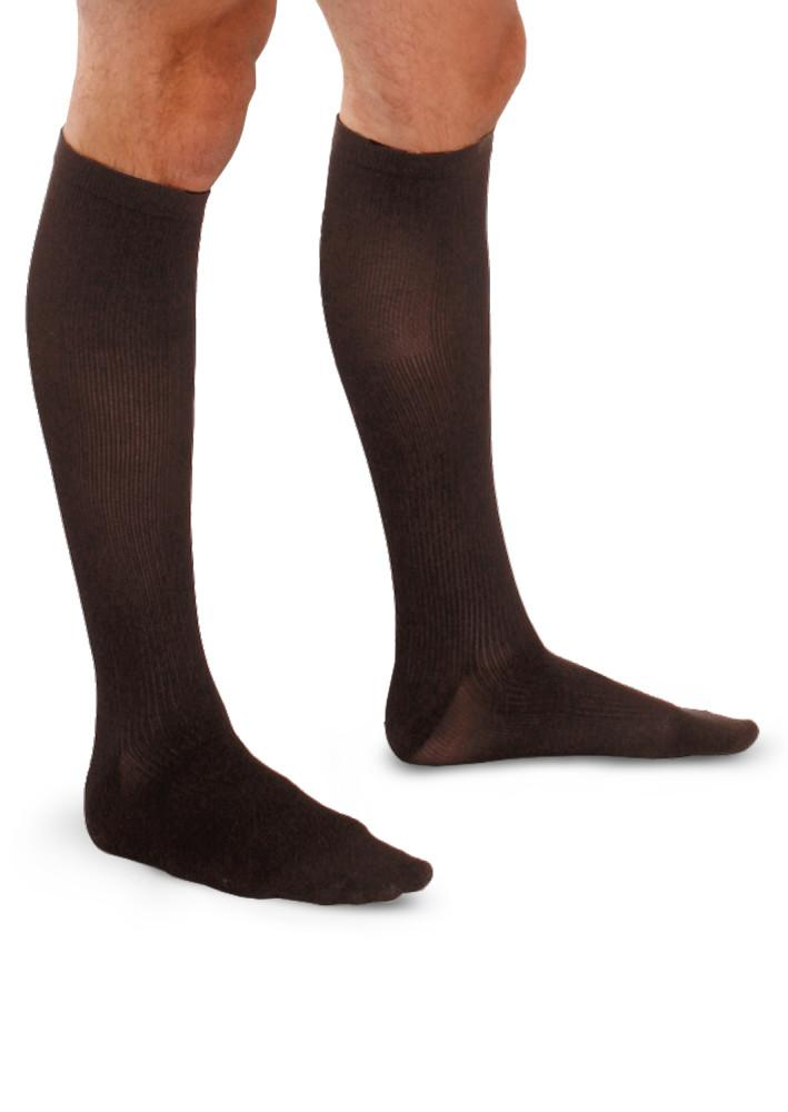 Therafirm Men's 20-30 mmHg Ribbed Knee High