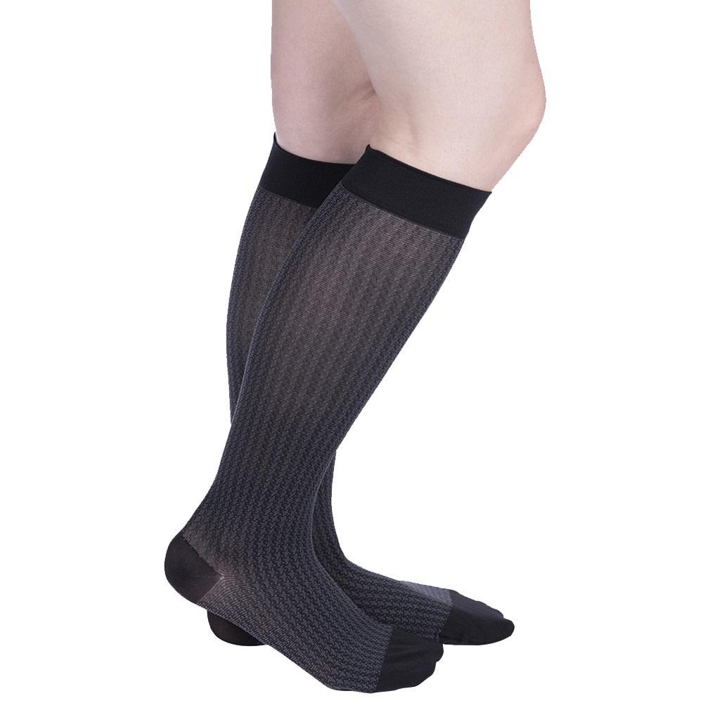 VenaCouture Women's Sheer Designs Houndstooth15-20 mmHg Compression Sock