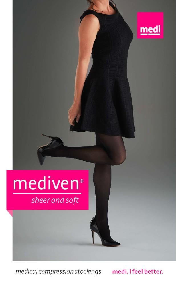 Mediven Sheer & Soft Women's 15-20 mmHg OPEN TOE Pantyhose