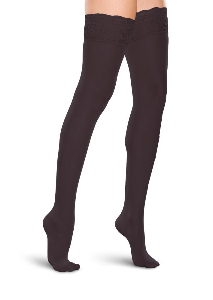 Therafirm Sheer Women's 20-30 mmHg Thigh High w/ Lace Silicone Top Band
