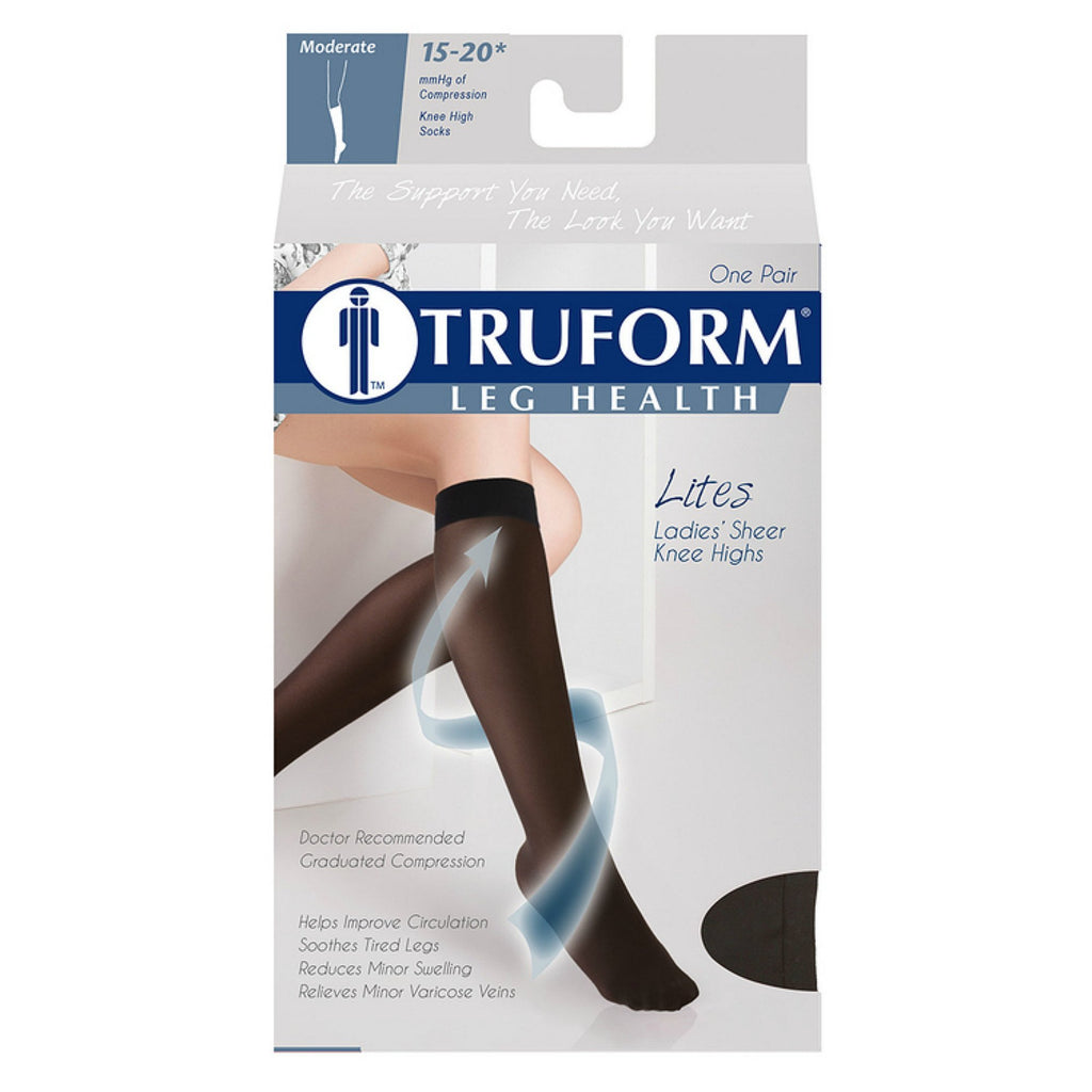 Truform Lites Women's 15-20 mmHg Knee High