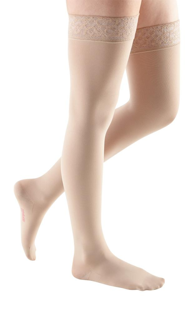 Mediven Comfort 30-40 mmHg Thigh High w/ Lace Silicone Top Band