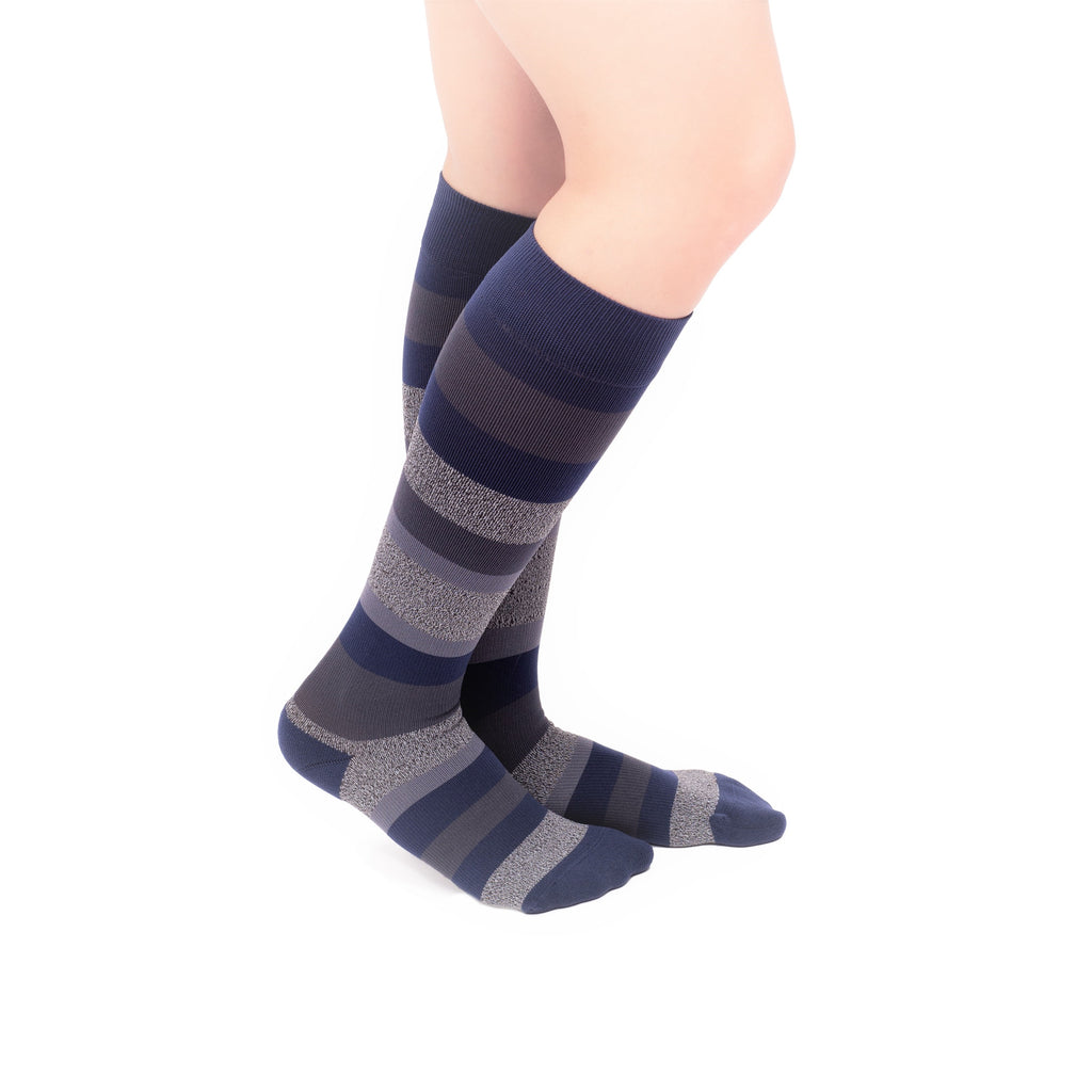 VenaCouture Women's Bold Regency Stripe 15-20 mmHg Compression Socks