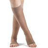 Sigvaris Sheer Fashion Women's 15-20 mmHg OPEN TOE Knee High, Suntan