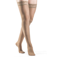 Sigvaris Sheer Fashion Women's 15-20 mmHg Thigh High, Taupe