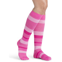 Sigvaris Microfiber Patterns Women's 20-30 mmHg Knee High, Pink Stripe