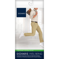 Sigvaris Cushioned Cotton Men's 15-20 mmHg Knee High