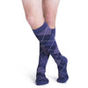 Sigvaris Microfiber Shades Men's 15-20 mmHg Knee High, Purple Argyle