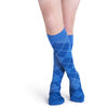 Sigvaris Microfiber Shades Men's 15-20 mmHg Knee High, Royal Blue Argyle