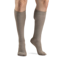 Sigvaris Casual Cotton Men's 15-20mmHg Knee High, Khaki