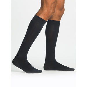 Sigvaris Sea Island Cotton Men's 15-20 mmHg Knee High, Navy