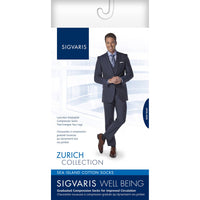 Sigvaris Sea Island Cotton Men's 15-20 mmHg Knee High